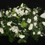 White double ended casket spray