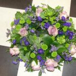 Lilac, green & blue wreath