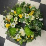 Yellow, white & lime wreath