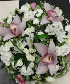 Pink orchid posy pad
