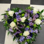 Black calla & lilac heart