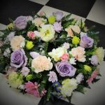 Pastel coloured wreath