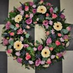 Pastel coloured large wreath