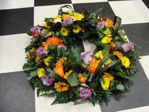 Yellow & lilac wreath