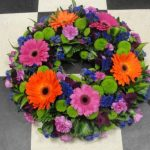 Vibrant coloured wreath