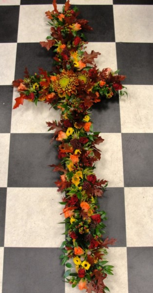 Loose autumn themed large cross