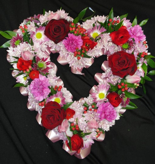 Pink & white heart