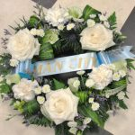 MCFC wreath with ribbon banner
