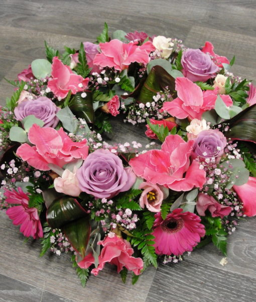 Lilac & pink wreath