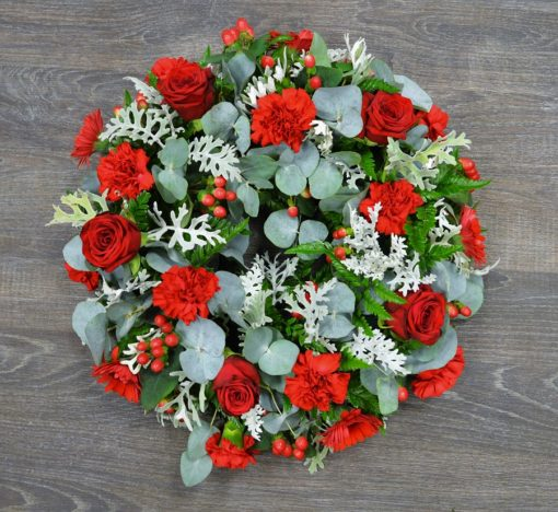 Red and Grey wreath (2)